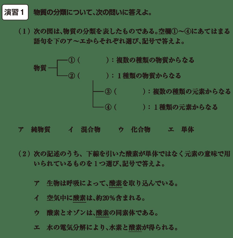 高校 理科 化学基礎 演習1 答え空欄