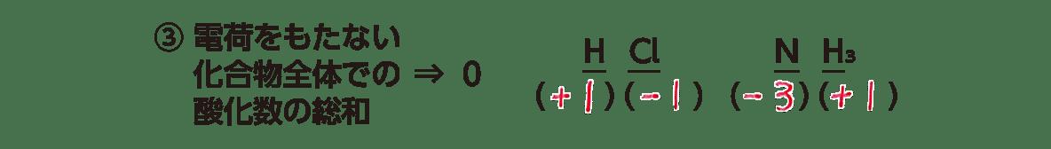 高校 理科 化学基礎 物質の変化35 ポイント2 ③の3行のみ 答え全部