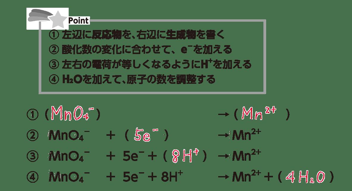 高校 理科 化学基礎 物質の変化39 ポイント2 答えあり