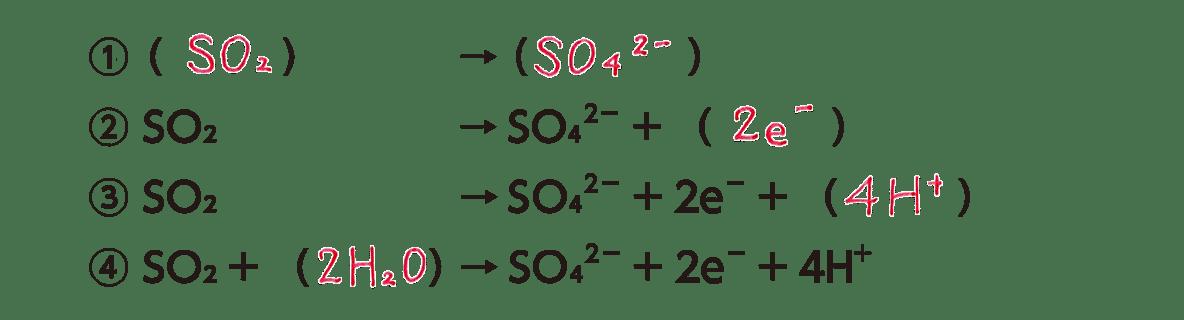 高校 理科 化学基礎 物質の変化39 ポイント3(還元剤の半反応式) 答えあり