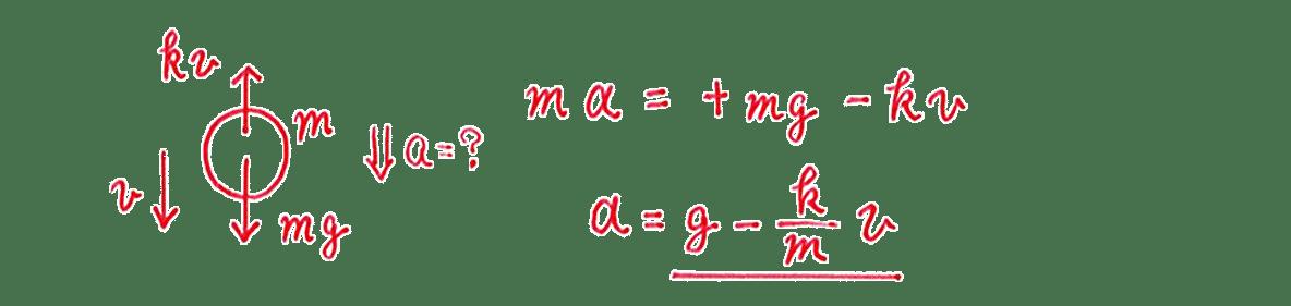 高校物理 運動と力47 練習 (1)答え