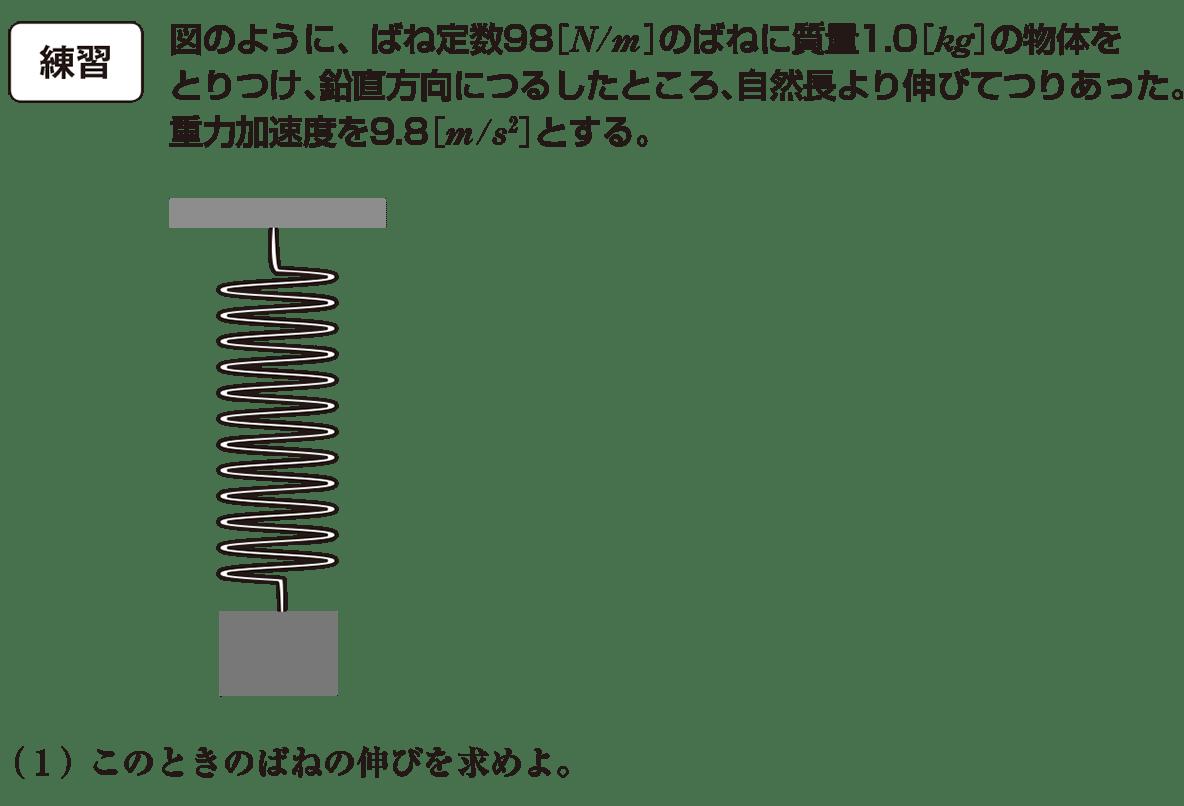 高校物理 運動と力55 練習 問題文と図(書き込みなし)と(1)