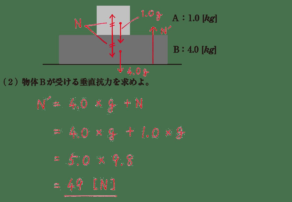 運動と力25の練習 (2)の式と答え