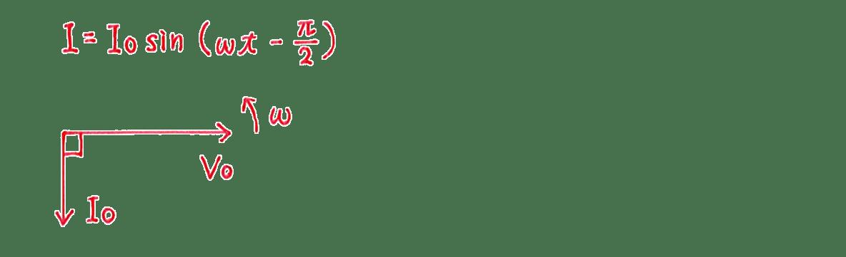 高校物理 電磁気55 練習 (2) 図の上のI=の式と手書き図