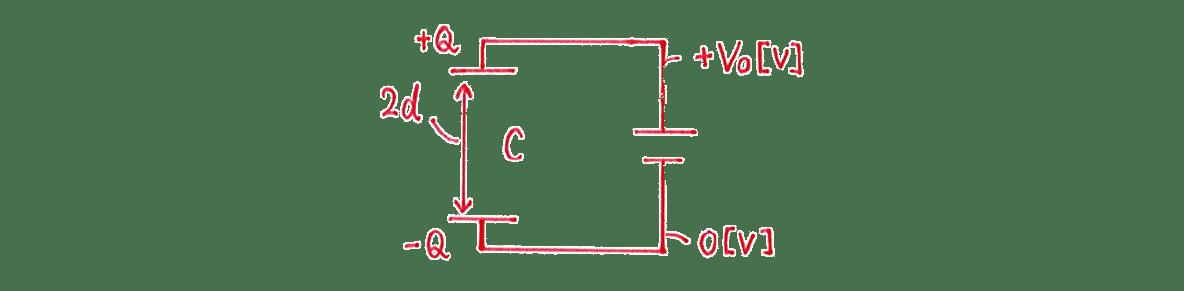 高校物理 電磁気15 練習 (2)の手書き図