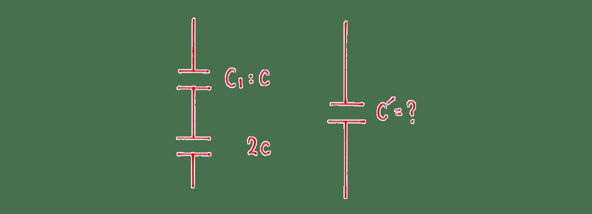 高校物理 電磁気18 練習 (1) 手書き図2つ