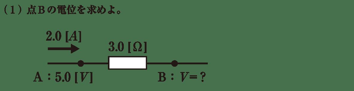 高校物理 電磁気31 練習 (1) 問題文と図