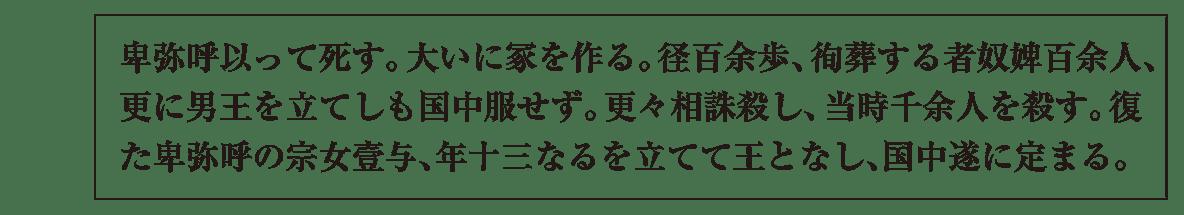 高校日本史11 ポイント1 『魏志』倭人伝③(一番下の四角囲い)