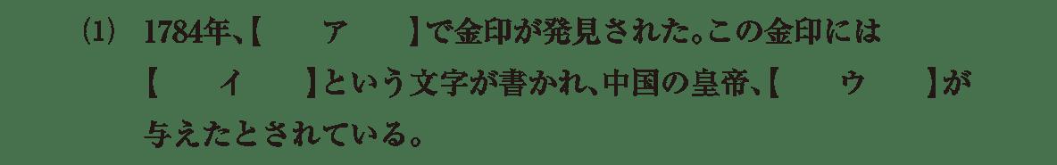 弥生時代の政治3 問題1(1)