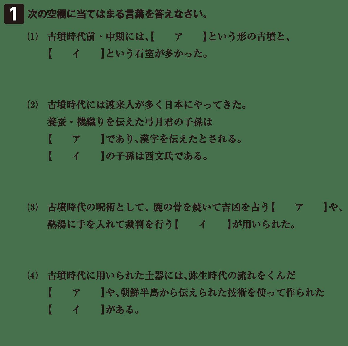 古墳文化3 問題1 問題