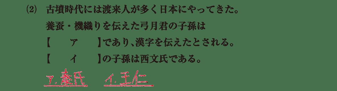 古墳文化3 問題1(2)
