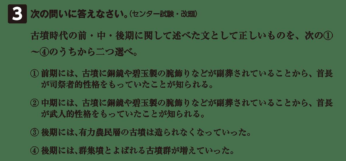 古墳文化3 問題3 問題