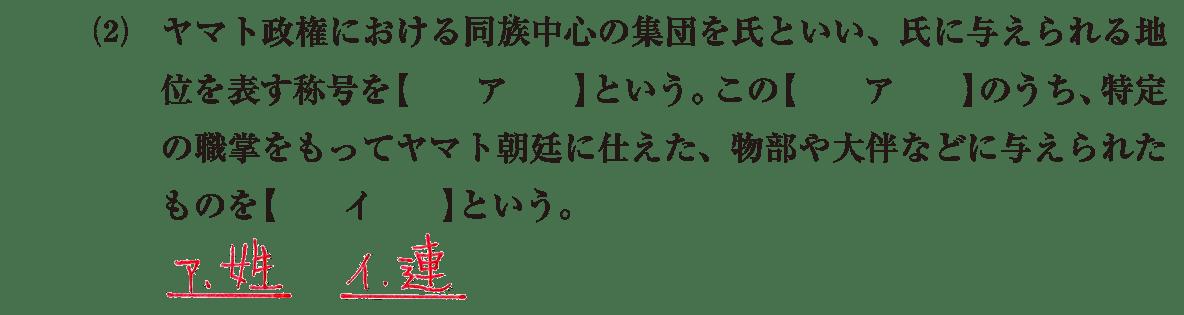 ヤマト政権3 問題1(2) 答え入り