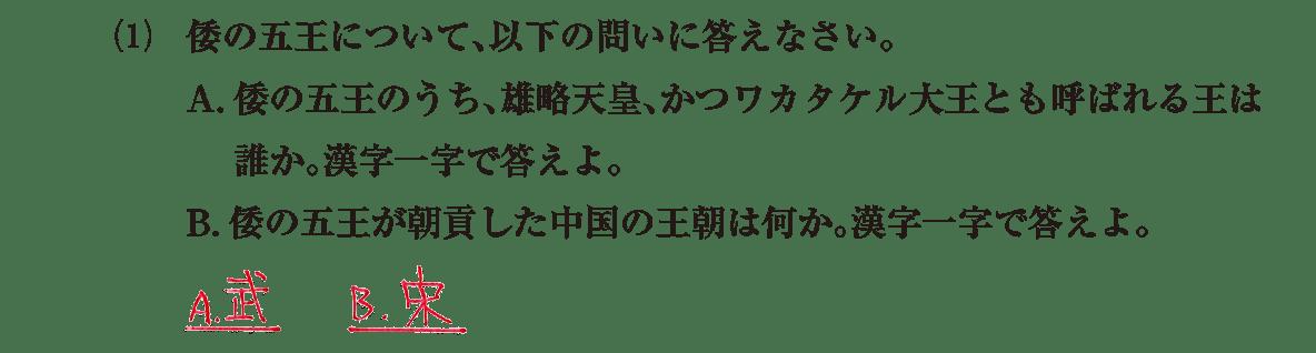 ヤマト政権3 問題2(1) 答え入り