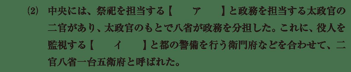律令制度3 問題1(2) 問題