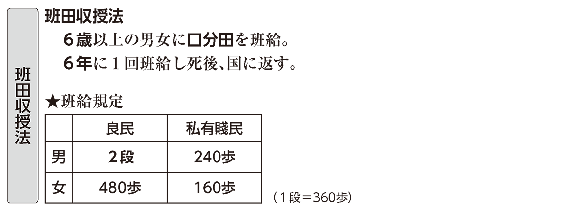 律令制度5 ポイント3 班田収授法