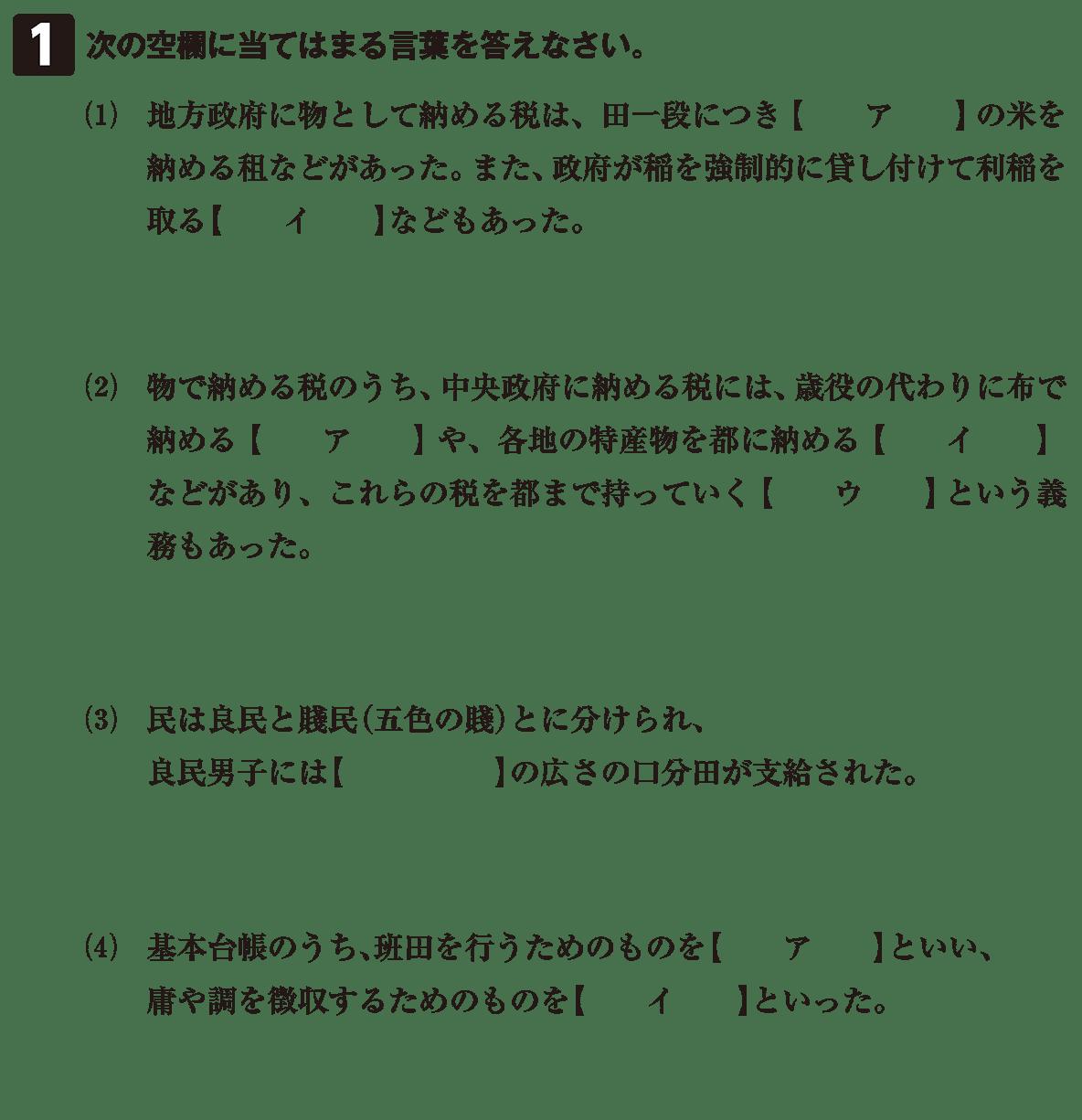 律令制度6 問題1 問題