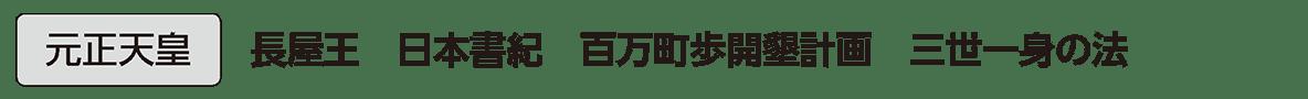 奈良時代1 単語2 元正天皇
