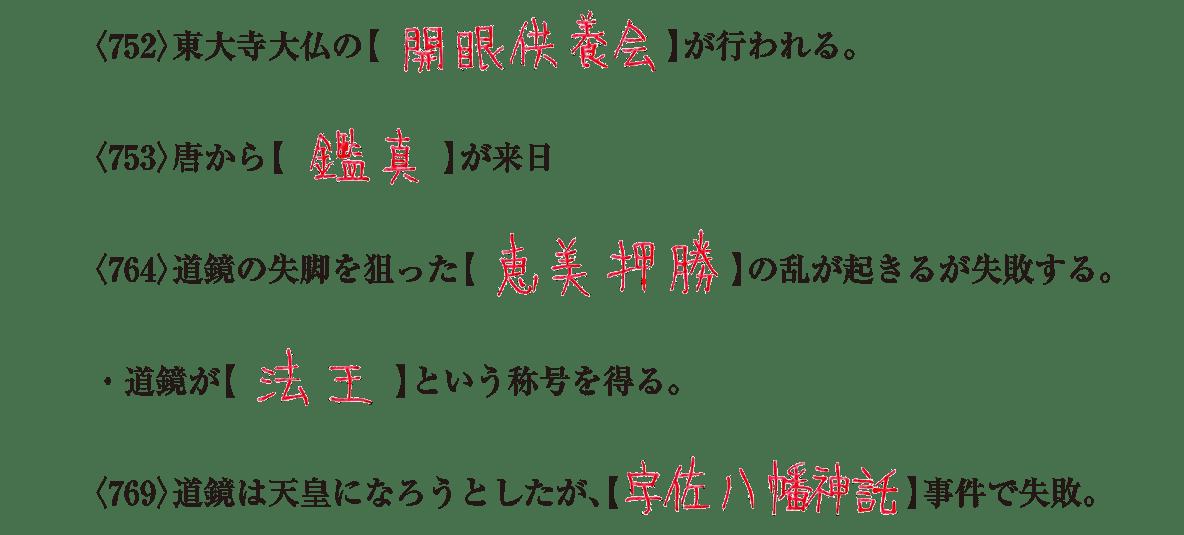 奈良時代4 練習 答え入り