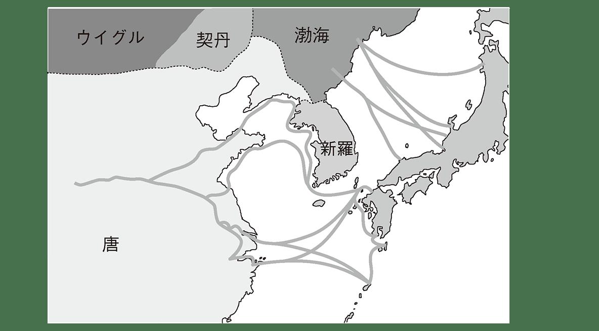 奈良時代5 右ページの地図