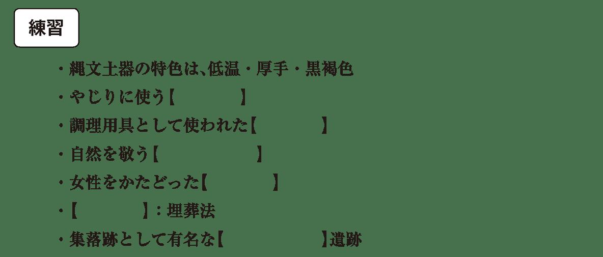 縄文時代2 練習 カッコ空欄