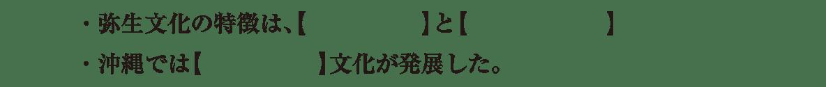 高校日本史7 練習 1・2行目空欄