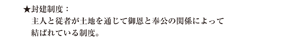 中世11 ポイント1 封建制度 ★~最初の3行のみ