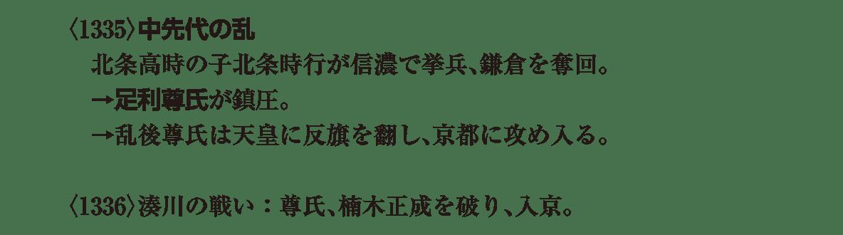 中世23 ポイント1 <1335>中先代の乱+<1336>湊川の戦い1行