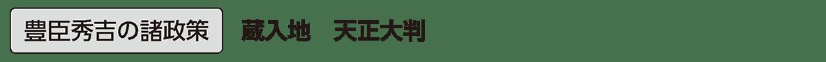 近世11 単語1 豊臣秀吉の諸政策