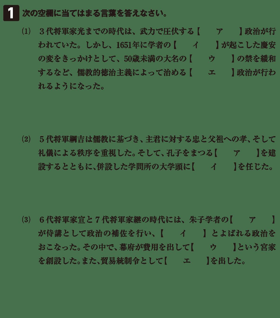 近世36 問題1 カッコ空欄