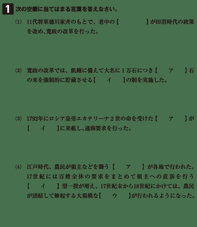 近世42 問題1 カッコ空欄