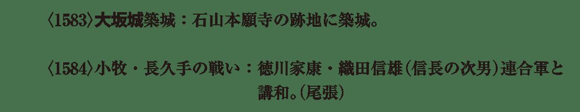 近世7 ポイント1 大坂城+小牧長久手の戦い