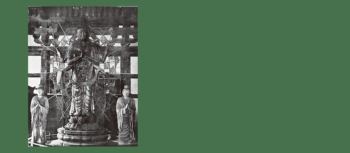 東大寺法華堂不空羂索観音像・日光月光菩薩像の写真・キャプション不要