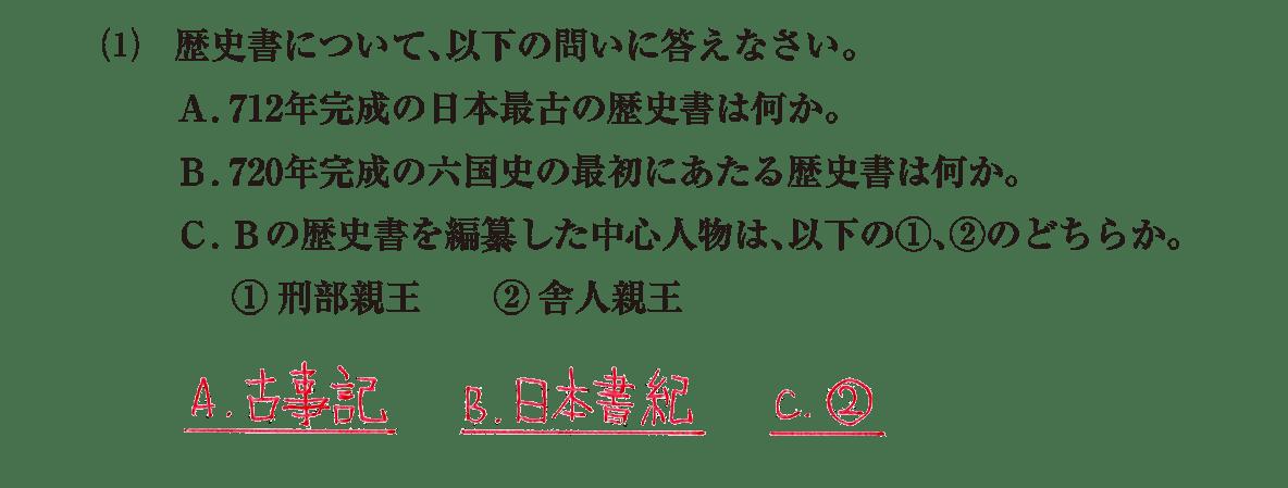 原始・古代文化12 問題2(1) 解答