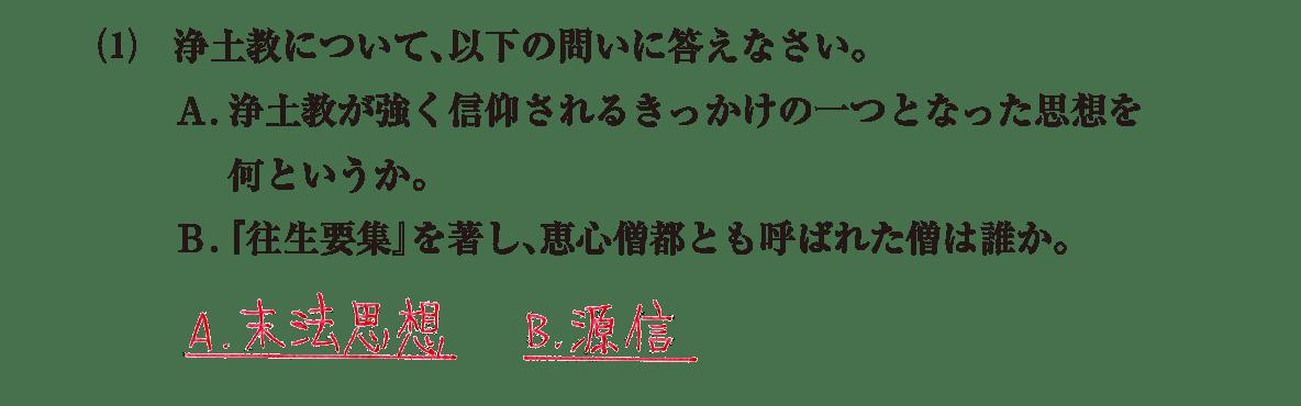 原始・古代文化21 問題2(1) 解答
