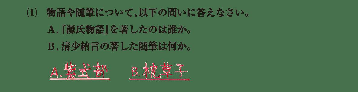 原始・古代文化24 問題2(1) 解答