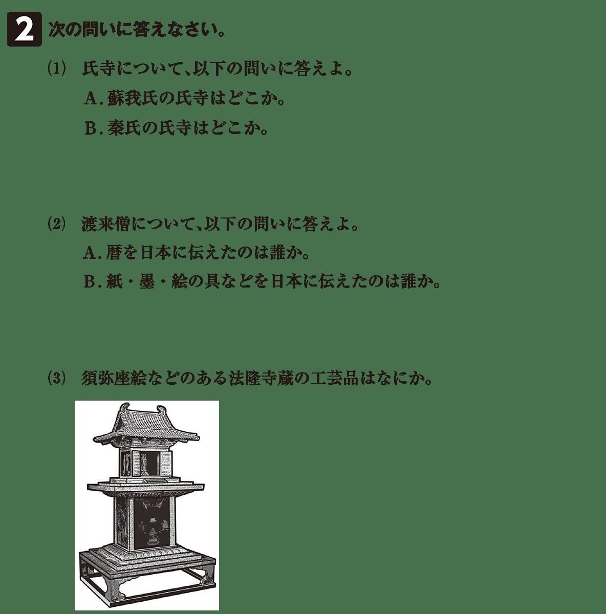 原始・古代文化3 問題2 問題