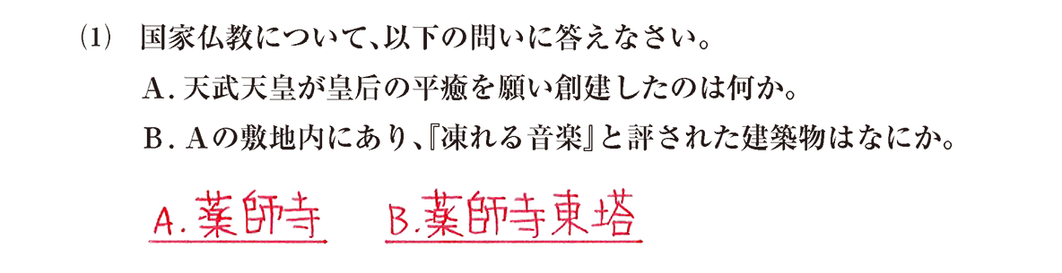 原始・古代文化6 問題2(1) 解答