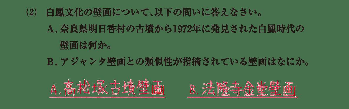 原始・古代文化6 問題2(2) 解答