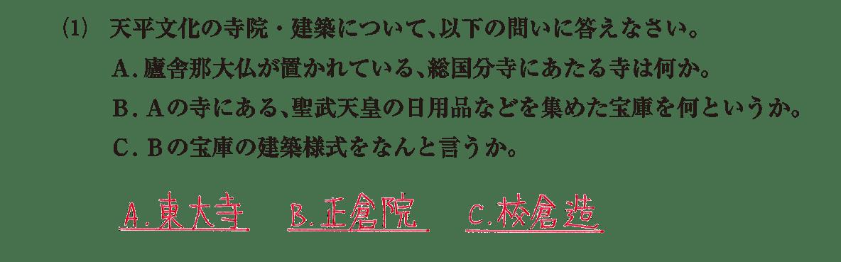 原始・古代文化9 問題2(1) 解答