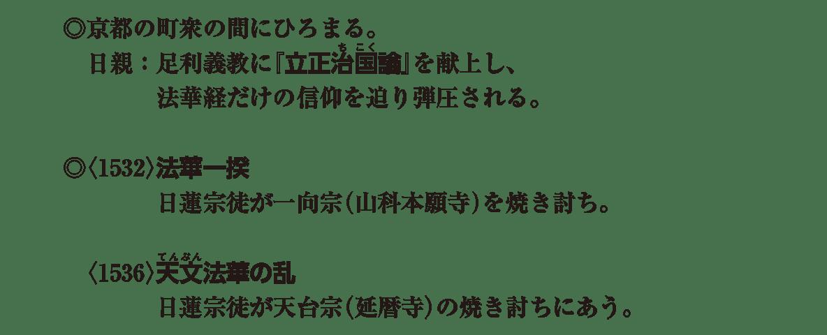 中世の文化17 ポイント2 仏教(日蓮宗)アイコンなし