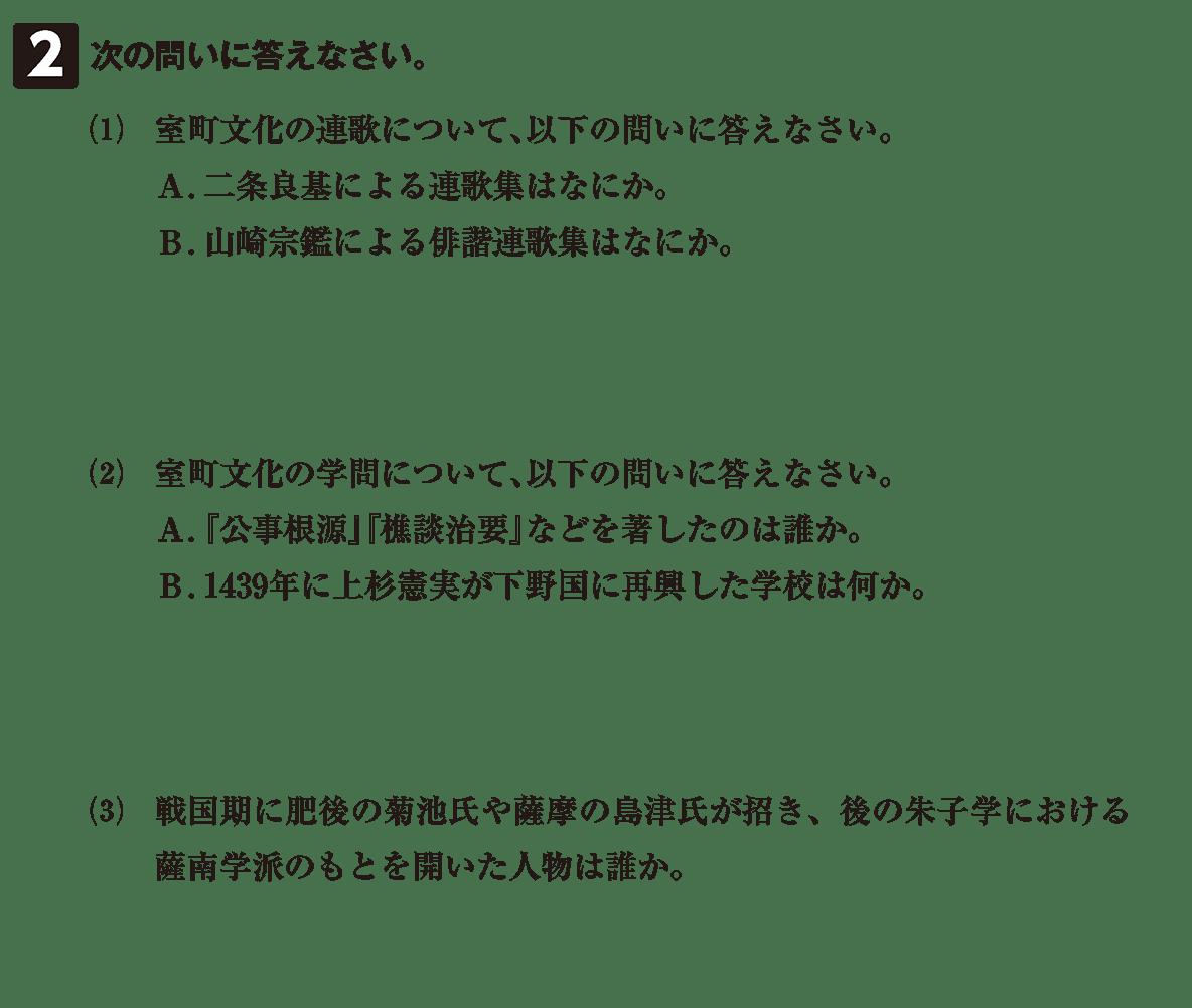 中世の文化24 問題2 問題