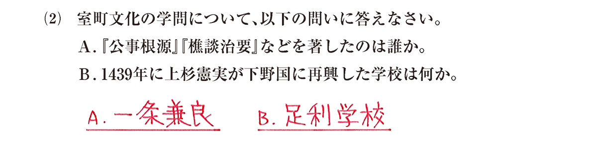 中世の文化24 問題2(2) 解答