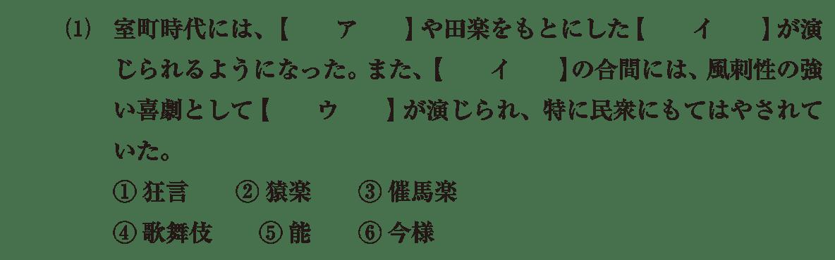 中世の文化27 問題1(1) 問題
