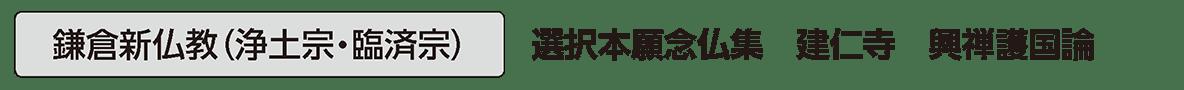 中世の文化5 単語1 鎌倉新仏教(浄土宗・臨済宗)