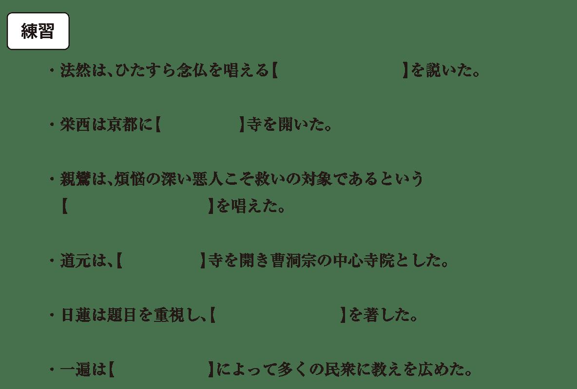 中世の文化5 練習 空欄