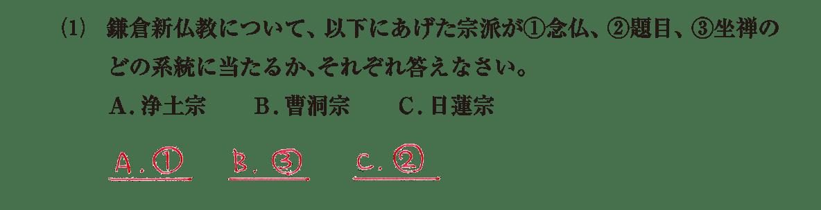 中世の文化6 問題2(1) 解答