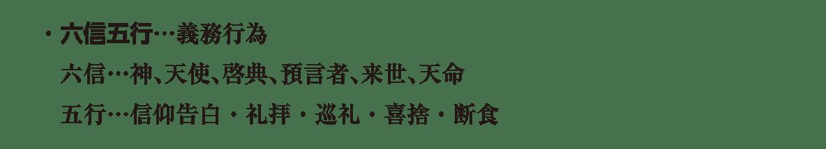 高校世界史 イスラーム世界1 ポ3 下から6~3行目/六信五行の説明