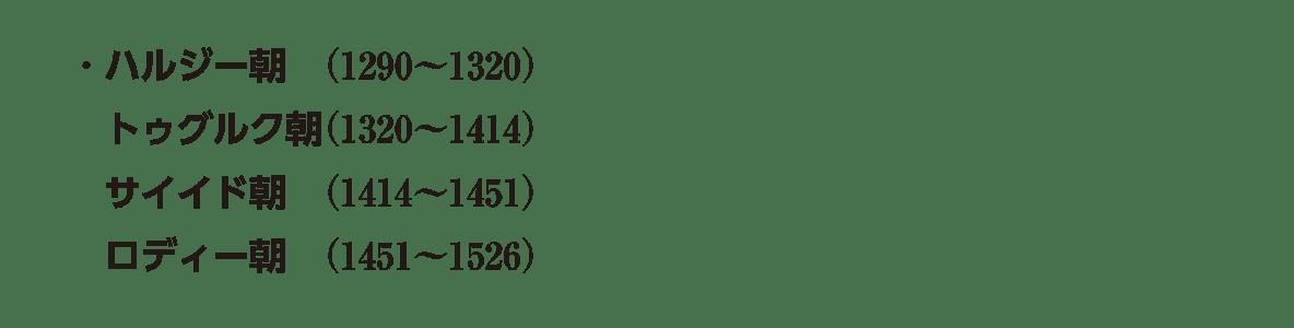 高校世界史 イスラーム世界4 ポ3 ラスト4行/ハルジー朝~ロディー朝
