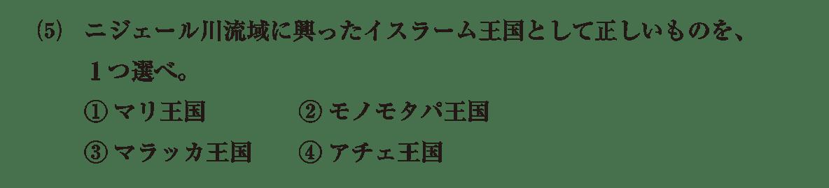 高校世界史 イスラーム世界8 問題2(5)